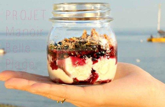 Manoir Belle Plage - Crème prise à l'érable et fruits