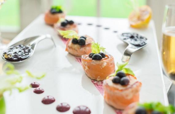 Bites of salmon