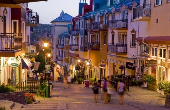 Pedestrian village of Mont-Tremblant