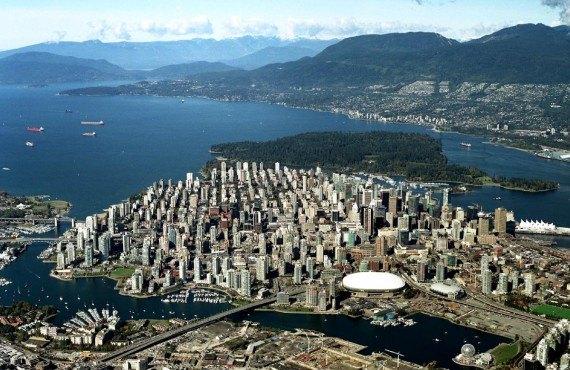 Vue aérienne de Vancouver