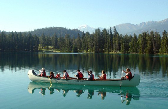 Fairmont Jasper Park Lodge - Balade en canot