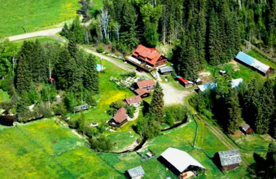 Ranch Nakiska - Vue aérienne du Ranch