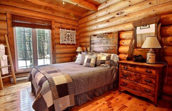 Cabane au Canada - chambre rustique