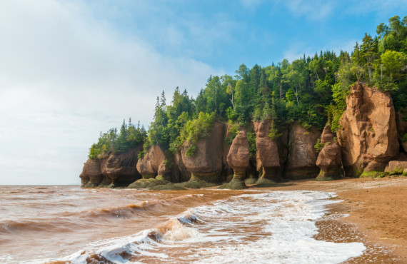 Hopewell Rocks in the Bay of Fundy