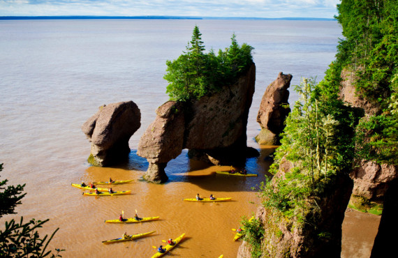 Kayaking at Hopewell Rocks, Bay of Fundy