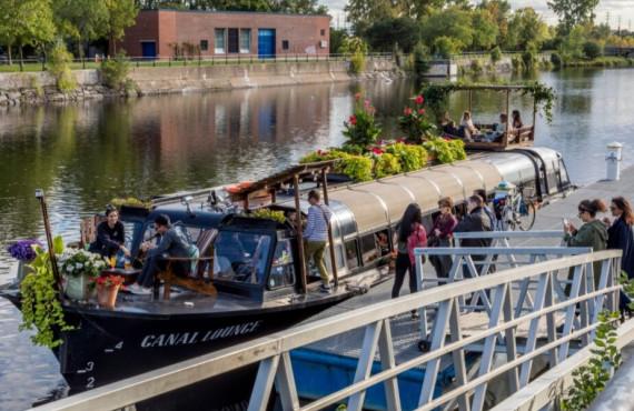 Restaurant sur l'eau au Canal Lachine