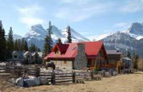 Ranch typique de l'Ouest Canadien