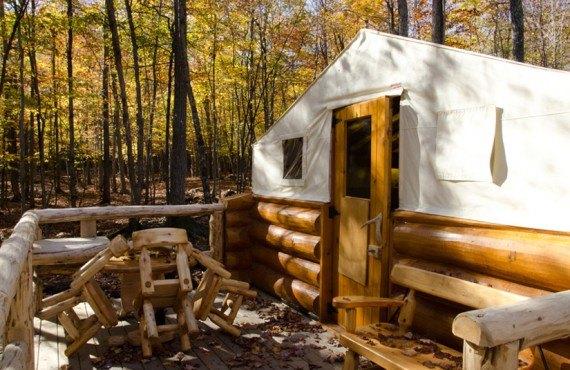 Tente prospecteur - Parc Omega