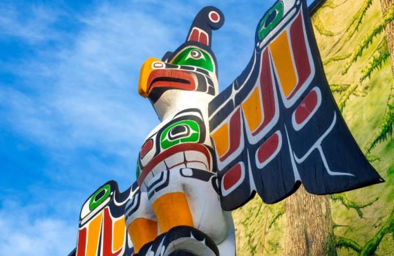 Sculpture amérindienne à Duncan au Canada