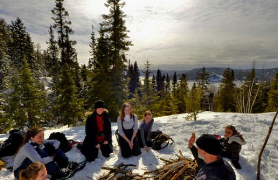 Déjeuner sur feu de bois