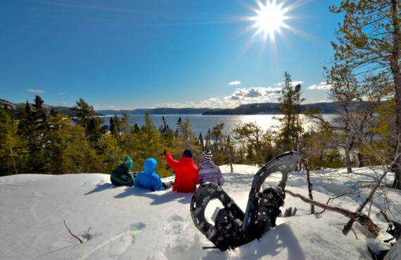 Vue panoramique sur le Fjord du Saguenay
