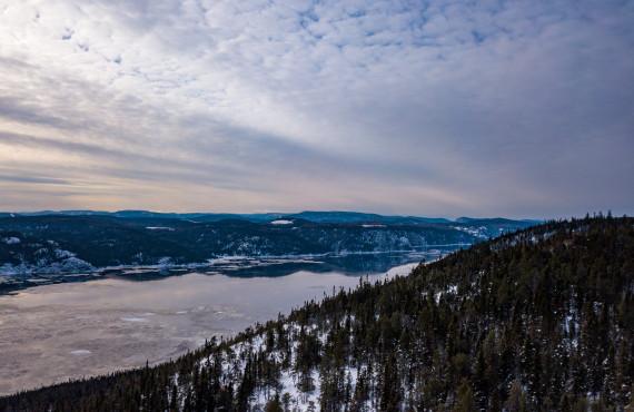 Fjord du Saguenay en hiver