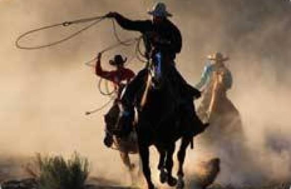 Équitation avec de vrais cowboys