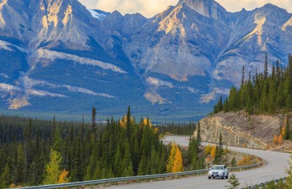Promenades des Glaciers en Alberta