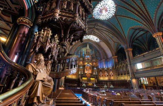 Intérieur de la Basilique Notre-Dame à Montréal