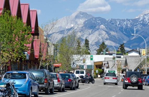 Village de Jasper au Canada