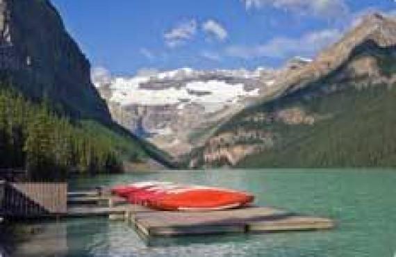 Canot sur le Lac Louise