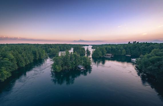 Mille-îles au coucher du soleil