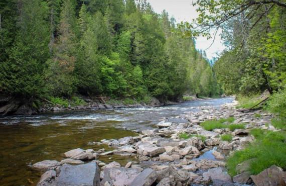 Rivière Rimouski au Canyon des Portes de l'Enfer