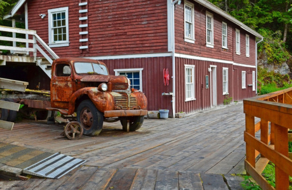 Village de Telegraph Cove au Canada