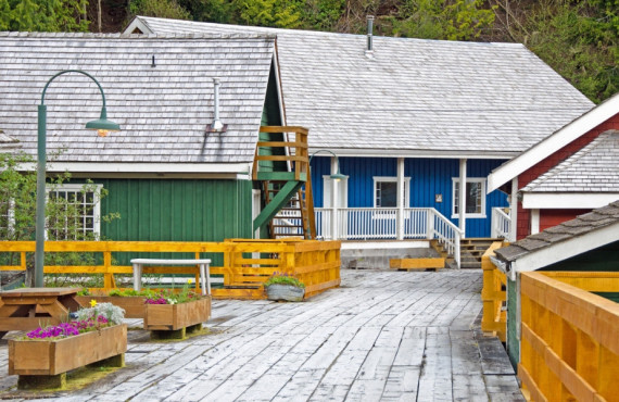 Village de Telegraph Cove en Colombie-Britannique