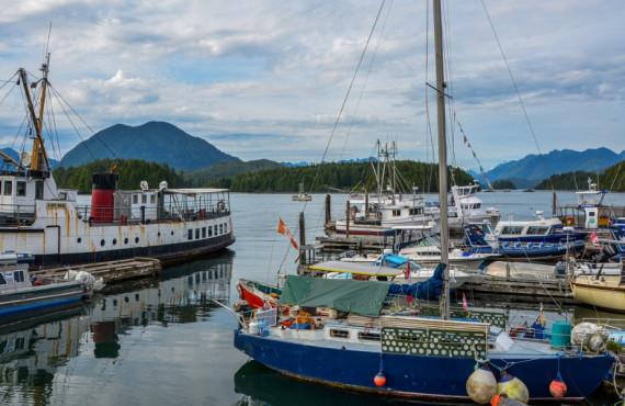 Village de Tofino sur l'île de Vancouver