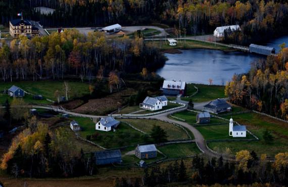 Acadian village, New Brunswick