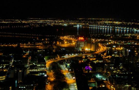 Vue en soirée depuis l'Observatoire Place Ville-Marie