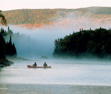 La Mauricie National Park at dawn