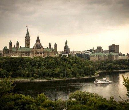 Parliament Hill, Ottawa seen from Hull-Gatineau