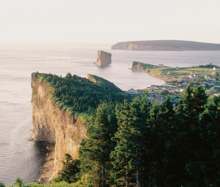 The village of Percé and its famous rock
