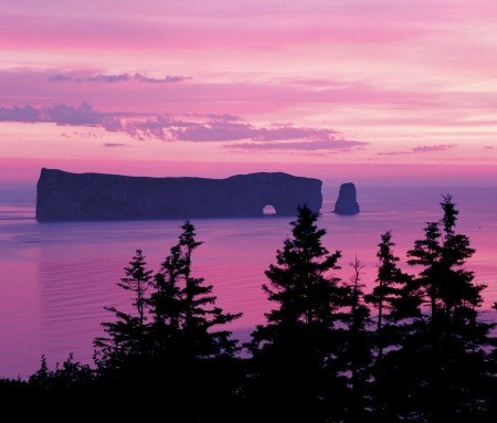 Sunset over Rocher Percé