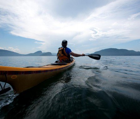 Sea kayaking in Bic National Park