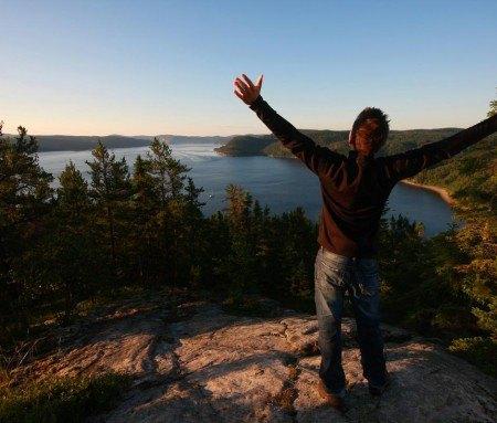 Hike to the top, Petit-Saguenay