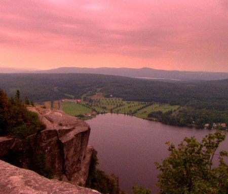 Beautiful view of the Eastern Townships, Canada