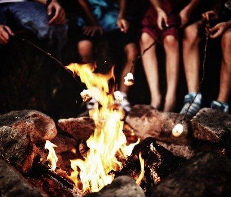 Around the campfire, Oka Park