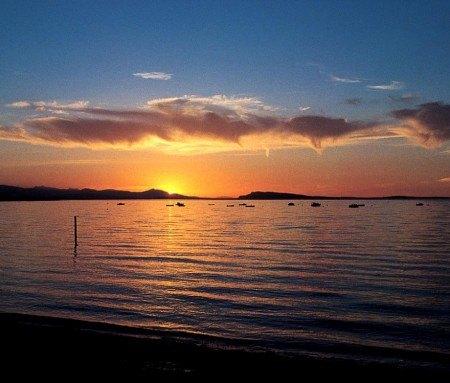 Sunset at Qualicum Beach