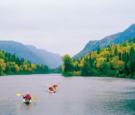 Kayaking on the Jacques-Cartier River