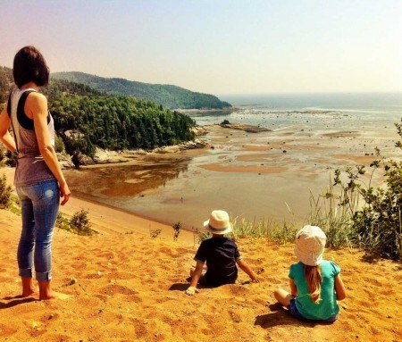 Point of view from the sand dunes of Tadoussac