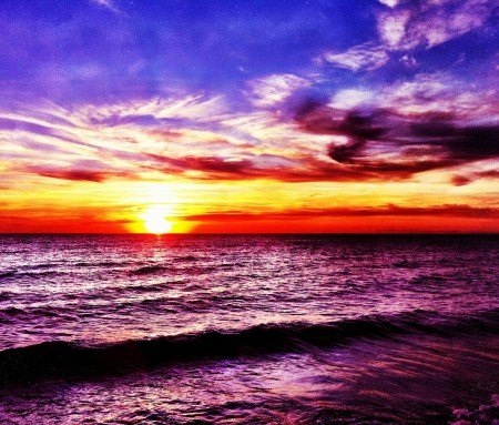 The second most beautiful sunsets in the world