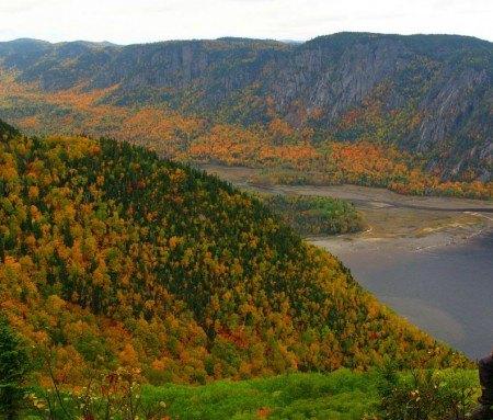 Saguenay Fjord in autumn