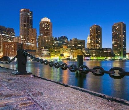 Boston Harborwalk in downtown