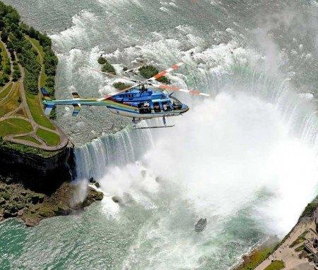 Helicopter ride over the Niagara Falls
