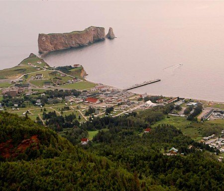 Percé from the air