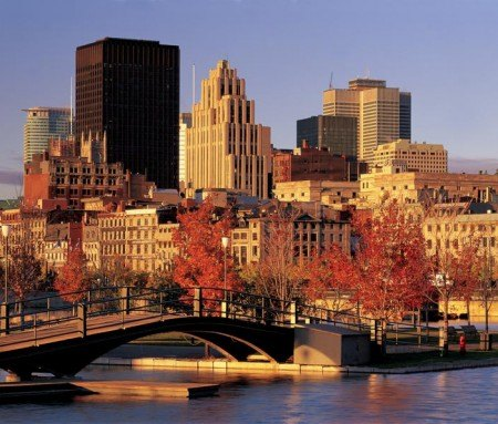 Montreal's Old Port in fall