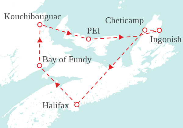 The Maritimes by RV