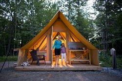 Camping en Tente Huttopia - Charlevoix
