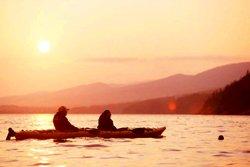 Kayak de mer au coucher du soleil - Parc Forillon