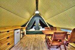 Tente Huttopia - intérieur