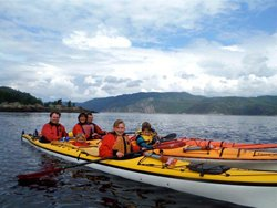 Kayak de mer en famille